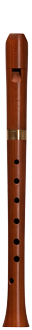 Early baroque soprano recorder